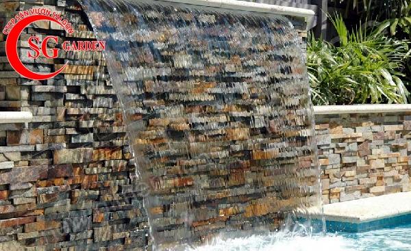 tiểu cảnh thác nước tren tường 3